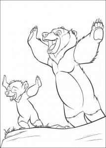 coloring page Kenai og Koda (3)