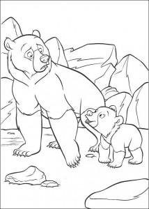 coloring page Kenai og Koda (4)