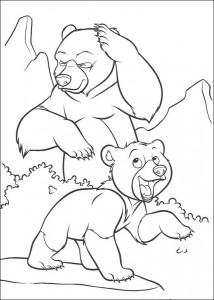 coloring page Kenai og Koda (5)