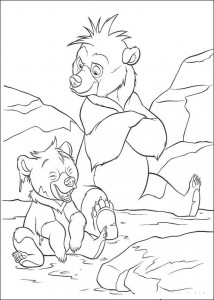 kleurplaat Kenai en Koda (6)