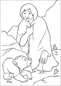 coloring page Kenai og Koda (7)