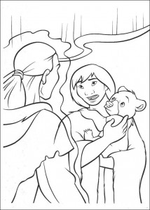 coloring page Kenai og Koda (9)