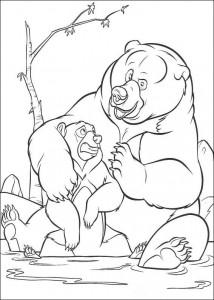 coloring page Kenai og Koda