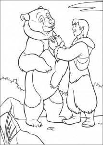 Coloriage Kenai et Sitka
