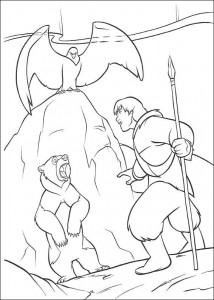 coloring page Kenai, Sitka og en ørn
