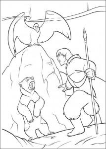 coloring page Kenai, Sitka and an eagle