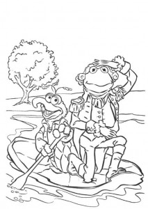 kleurplaat Kermit als George Washington