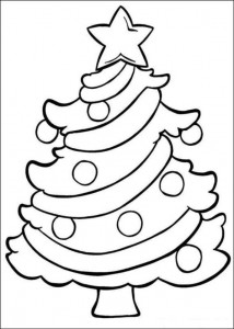 coloring page Christmas trees to decorate yourself (1)