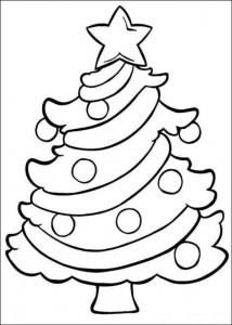 kleurplaat Kerstbomen om zelf te versieren (1)