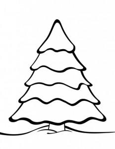 kleurplaat Kerstbomen om zelf te versieren (10)