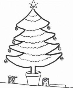 kleurplaat Kerstbomen om zelf te versieren (2)