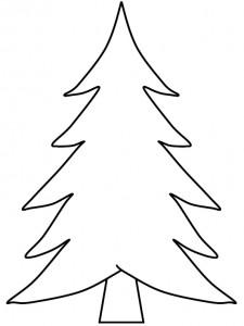 kleurplaat Kerstbomen om zelf te versieren (8)