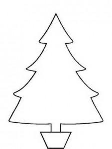 kleurplaat Kerstbomen om zelf te versieren (9)