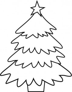 coloring page Christmas trees to decorate yourself