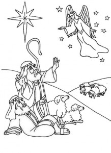 coloring page Christmas angels (1)