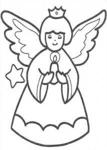 coloring page Christmas angels (10)