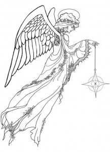 coloring page Christmas angels (11)