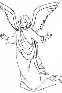coloring page Christmas angels (12)