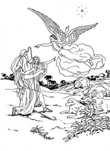coloring page Christmas angels (13)