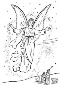 coloring page Christmas angels (14)