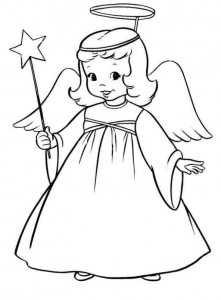 coloring page Christmas angels (2)