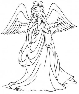 coloring page Christmas angels (3)
