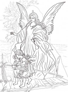 coloring page Christmas angels (4)