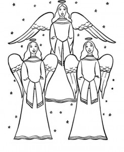 coloring page Christmas angels (5)