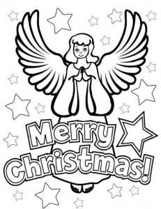 coloring page Christmas angels (6)