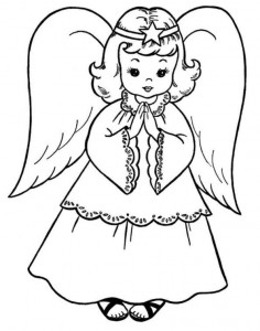coloring page Christmas angels (8)