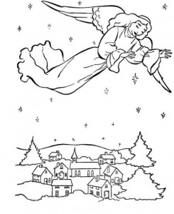 coloring page Christmas angels (9)