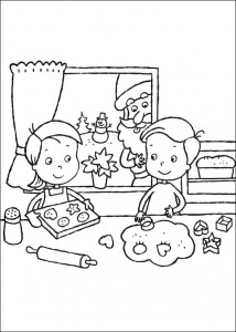 coloring page Christmas wreaths