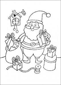 kleurplaat Kerstmis (1)