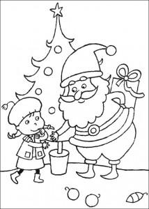 kleurplaat Kerstmis (5)
