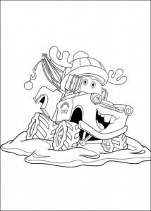 coloring page Christmas Cars (4)