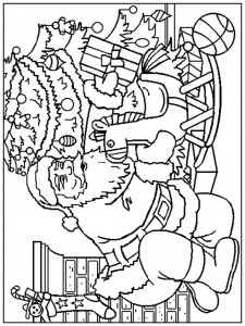 coloring page Christmas - Santa Claus (11)