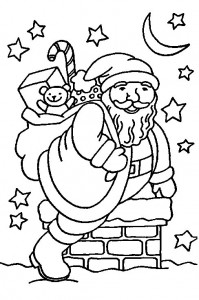 coloring page Christmas - Santa Claus (14)