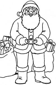 kleurplaat Kerstmis - de Kerstman (17)