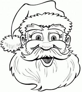 kleurplaat Kerstmis - de Kerstman (23)