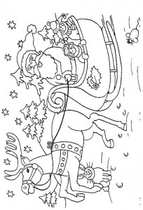 kleurplaat Kerstmis - de Kerstman (24)