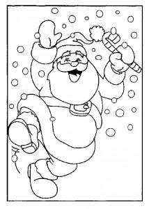 kleurplaat Kerstmis - de Kerstman (28)