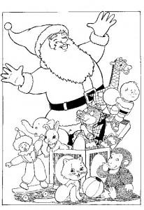 kleurplaat Kerstmis - de Kerstman (31)