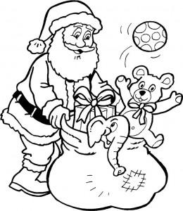 kleurplaat Kerstmis - de Kerstman (33)