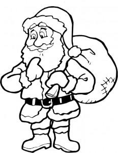 kleurplaat Kerstmis - de Kerstman (34)