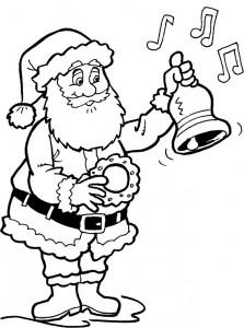 kleurplaat Kerstmis - de Kerstman (35)