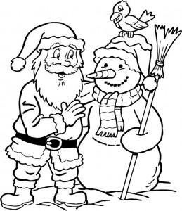 kleurplaat Kerstmis - de Kerstman (38)