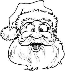 kleurplaat Kerstmis - de Kerstman (4)