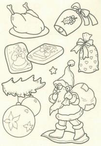 kleurplaat Kerstmis - de Kerstman (40)