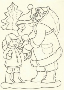 kleurplaat Kerstmis - de Kerstman (41)