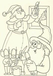 kleurplaat Kerstmis - de Kerstman (42)
